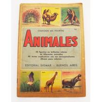 Antigo Álbum De Figurinhas Argentino Animales De 1955