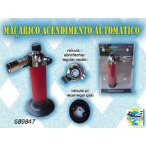 Maçarico Acendimento Automático Recarregável Gás Isqueiro .