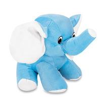 Elefante Pelucia Azul Pequeno 20cm Lavavel Antialergico Novo