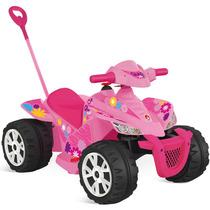 Moto Quadriciclo Kid Menina Brinquedo Infantil Bandeirante
