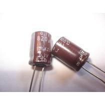 Capacitor Eletrolítico 820uf X 6,3v 105° 10 Pçs Frete Grátis