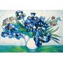 Pintura Oleo Sobre Tela Vaso Flores Irisis Vincent Van Gogh