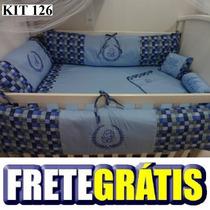 Kit Berço Personalizados 10 Pçs Provençal Azul