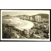 Cartão Postal Antigo Santos Guarujá - Vista Panoramica