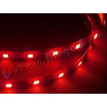 Fita Led Para Carro Veicular - 18 Leds - Smd5050 Vermelha