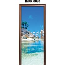 Adesivo Imp30 Para Porta Piscina Natural Mar Ilha Paisagem