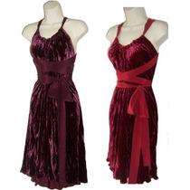 Vestido De Veludo E Laço De Cetim Cores Lisas Ou Estampas