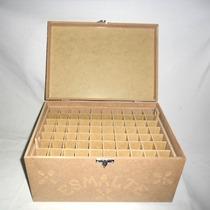 Caixa Porta 70 Esmaltes De Unha C/ Divisão -pague C/ Cartão