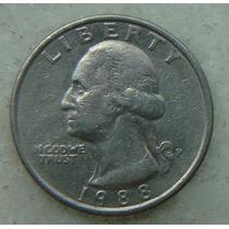 415 Eua - Quarter Dollar 1988 Letra P - Serrilha 24mm