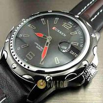 Relógio Esportivo Curren Modelo Wp 136 - Pulseira De Couro