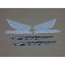 Kit Adesivos Honda Cg Fan 125 Ks 2009 À 2010 Preta - Decalx