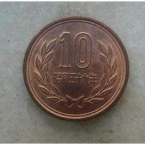 5029 - Moeda Japão 10 Yens Bronze, 23mm - Ver Fotos
