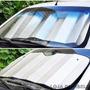 Kit C/ 02 Protetor Solar Parabrisa Cortina De Carro Sol