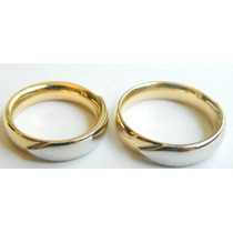 Feliz Jóias - Vivara - Par De Alianças Em Duas Cores De Ouro