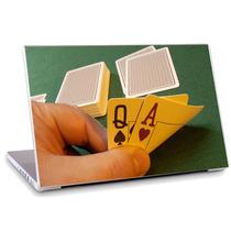 Skin Adesivo Notebook Jogo Cartas Mão Game Mesa Skdi0141