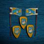 Playmobil-170 - 3 Escudos 2 Bandeiras Cisne Medievais
