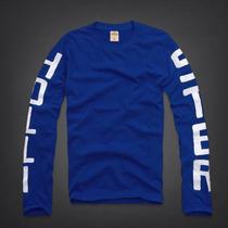 Camiseta Masculina Hollister, Abercrombie Armani Manga Longa