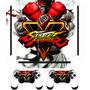 Skin Adesivo Capa Película Ps4 2 Controles Street Fighter V