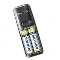 Pilhas Philips + Carregador Com Nota Fiscal E Garantia