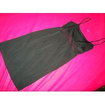 Vestido Prêto Alcinha Dupla-alta Costura-echelle Co.ltd. ! !