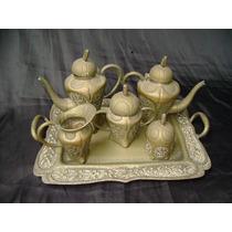 Lindo Conjunto De Chá De Prata Mexicana