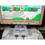 Super Nintendo Completo + 2 Controles Original + Mario World