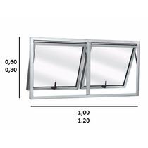 Vitro Maxim-ar Alumínio Branco 2 Seções 80x100 Fábrica