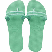 Chinelos Havaianas Flat Gum Feminino Verde Paste