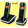 Telefone S,fio Motorola Duo Dect6.0+ramal+bina-lindo Confira