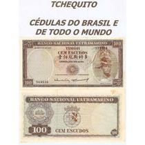 Timor 100 Escudos 1963 P. 28 Fe Cédula Bela Com Manchas