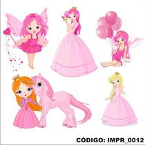 Adesivo Impr12 Infantil Menina Poney Princesas Fadas Fadinha