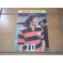 Mini Poster/cartão Zico O Camisa 10 Do Flamengo - Raro
