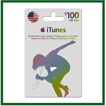 Itunes Gift Card $100 Usd *escaneado* - Entrega Imediata!