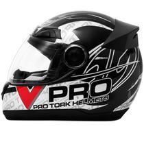 Capacete Pro Tork Evolution Street Moto Vpro Helmet Preto
