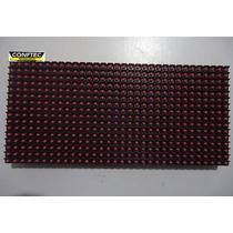 Placa P/ Painel Led P10 Vermelha 32x16cm 512leds Aquicompras