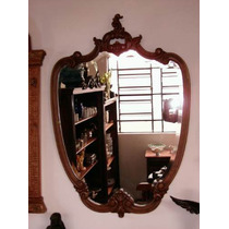 (gorpley) Espetacular Espelho Antigo Luiz Xv Bisotado