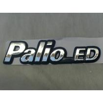 Emblema Cromado Linha Fiat Palio Ed Com Fundo Azul