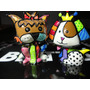 Romero Britto Mini Casal Dogs Colecionável Original