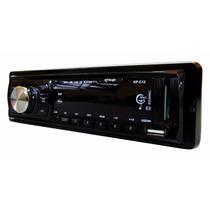 Som De Carro Automotivo Usb Rádio Fm Sd + Receptor Bluetooth