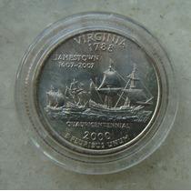 9631 Eua Quarter Dollar 2000, Acrilico Fc, Virginia