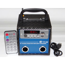 Minicaixa De Som P/pen Drive/mp3/sd/usb/radio Fm, 6w Somalto
