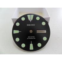 Mostrador Seiko 200m 7c43-7000 Scuba Quartz Restaurado Preto