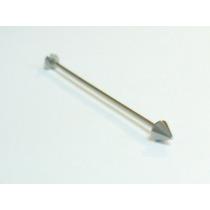 Piercing Transversal Spike,todo Em Aço Cirurgico 316l