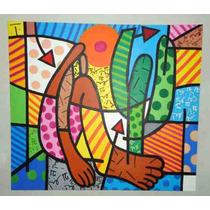Releitura Romero De Brito Abaporu Tam 80x90 Painel