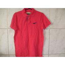 Camisa Polo Hollister Vermelha Tamanho M 70cm X 52cm