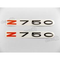 Adesivo Emblema Kawasaki Z750 Vermelho E Preto Par - Decalx