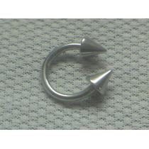 Piercing Aço Cirúrgico Ferradura Spike Frete Grátis