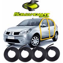 Kit Borracha Das Portas Renault Sandero Duster Logan - 4 Pçs