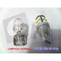 Kit C/ 10 Led Super Branco 6000k Lampada Pingo Farol Xenon