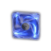 Cooler Fan Akasa Crystal C/ 4 Led´s - Azul 12x12 Cm